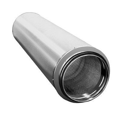 Äänenvaimennin pyöreä 125x900mm PVD