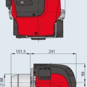 Öljypoltin OILON OILPRO 3 L 15-30 kW