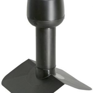 Alipainetuuletin VILPE huopakatolle harja 27° Ø160mm musta