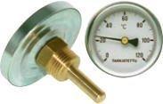 Bimetallilämpömittari R 1/2 halk. 100 L 100 120ºC
