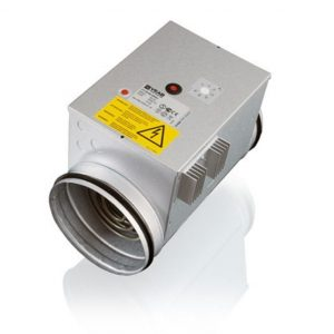 Esilämmityspatteri Enervent Pandion 2700 W (VEAB CV16-27-1-MQU ja kanava-anturi)