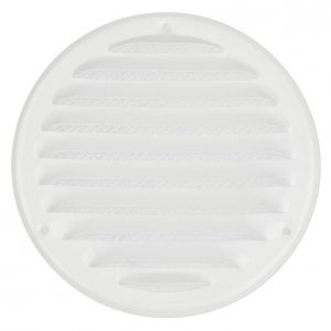 Europlast Mr125 Ilmanvaihtosäleikkö 125mm Metalli Valkoinen