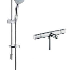 Hansgrohe 27747000 Croma 100 Vario Ecosmart 65 Cm + Ecostat Comfort Nordic Amme-/Suihkusetti