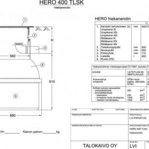 Hiekanerotin Hero 400/315 teleskooppisella kansistolla