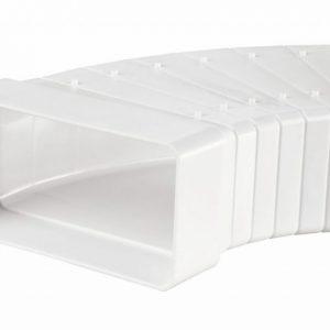 IV-kanavan käyrä Airsec horisontaalinen 60x204 mm 0-45° muovi