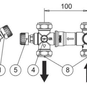 Jäspi varolaiteryhmä ja sekoitusventtiili VLM-malleihin
