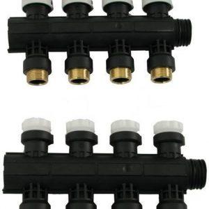 Jakotukki Pro 1'' Euro-Cone 6-lähtöinen puserrusliittimin