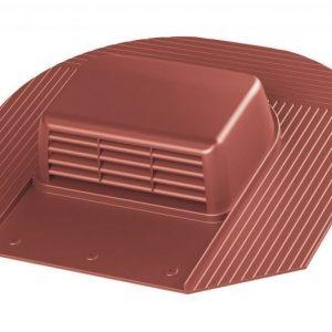 Kattotuuletusventtiili VILPE Huopa-KTV/harja punainen