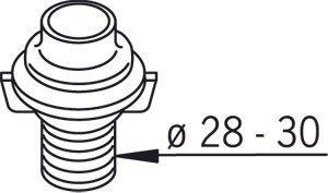 Läpivientikappale Oras 126753-11 Ø 28-30 mm valkoinen