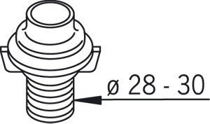 Läpivientikappale Oras 126753-15 Ø 28-30 mm harmaa