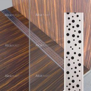 Lineaarinen lattiakaivo Buble kahdella kaadolla 800 mm Alcaplast