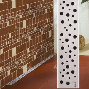 Lineaarinen lattiakaivo Buble yhdellä kaadolla 800 mm Alcaplast