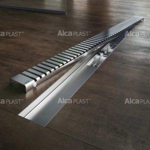 Lineaarinen lattiakaivo Line kahdella kaadolla 1000 mm Alcaplast