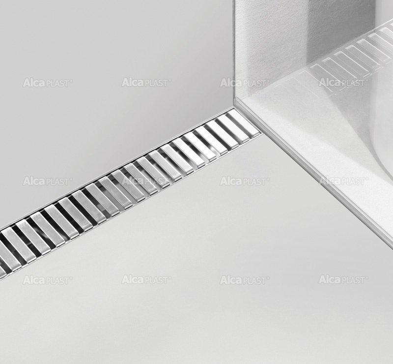 Lineaarinen lattiakaivo Line yhdellä kaadolla 1000 mm Alcaplast