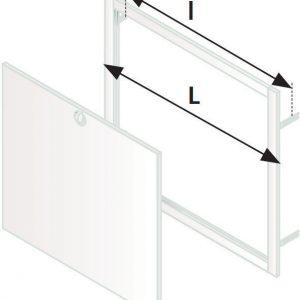 Ovi ja kehys max 12-piiriselle jakotukille WehoFloor