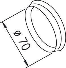 Peitelaipan tiivisterengaspari 203524/2 Ø 70 mm