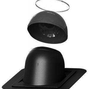 Piippu-läpivienti VILPE no. 1 pyöreä musta