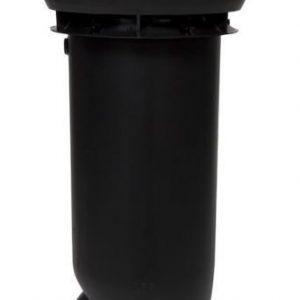 Poistoputki VILPE 160/ERISTETTY Musta