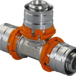 Puristus-T-haara Uponor DR 32x25x25 mm