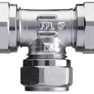 Puserrus T-liitin 12 mm kromattu
