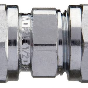 Puserrusliitin 12 mm suora kromattu