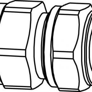 Puserrusliitin sisäkierre 1/2x18 suora messinki