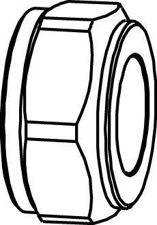 Puserrusmutteri 1/2x14 kromattu