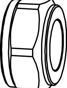 Puserrusmutteri 1/2x8 kromattu