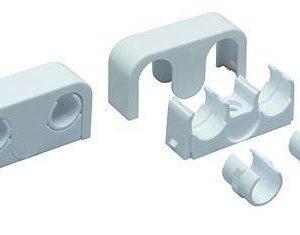 Putkikannake Uponor 16 - 20 mm 2 putkelle k/k 40 valkoinen