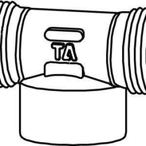 T-haara runko 1/2 ulko-/sisä-/ulkokierre kromattu