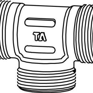 T-haara runko 3/8 ulkokierre kromattu