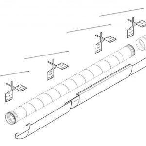 Teleskooppinen putkisarja Pax Ventilation system kit 1100-1790 mm