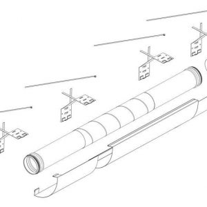 Teleskooppinen putkisarja Pax Ventilation system kit 500-1190 mm