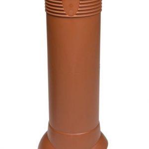 Tuuletusputki VILPE 110/ERISTETTY Tiilenpunainen