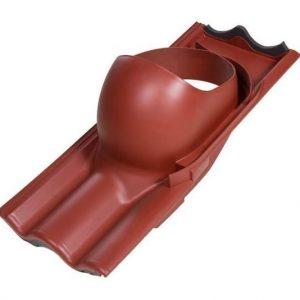 VILPE XL tiilikaton läpivienti punainen