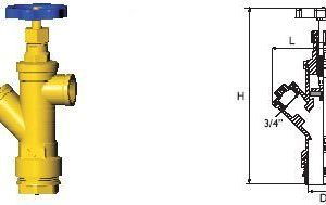 Vesimittariventtiili kierreliitin Hela 305 3/4X40