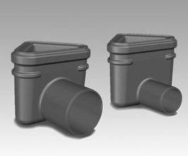 Viemärikaivo kulma 2411 vaaka 50 mm vesilukolla Unidrain