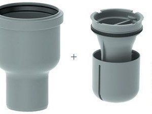 Viemärikaivo kulma 2412 pysty 75 mm vesilukolla Unidrain